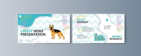 Set of brochures kit for pet purchase advertising Illustration