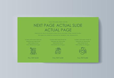 Business presentation brochure advertising goods and services. Vector illustration Illustration