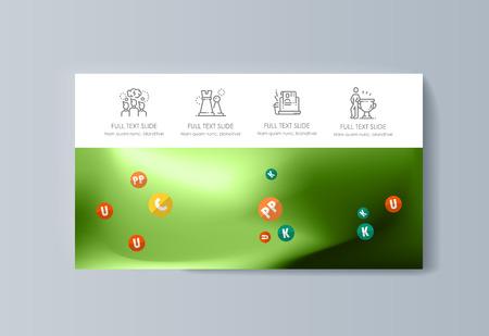 Brochure de présentation d'entreprise faisant la publicité de biens et de services. Illustration vectorielle
