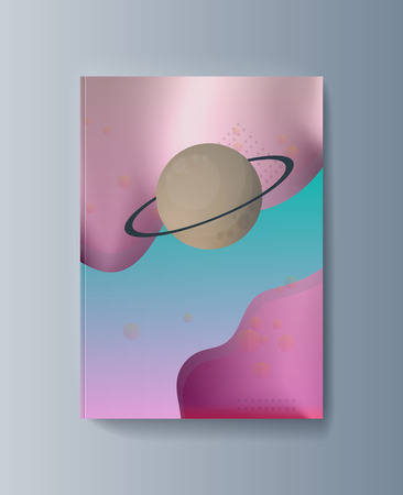 Space exploration and the trajectory of planets. Vector illustration Çizim