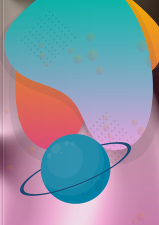 Space Exploration and the Solar System. Vector illustration Çizim