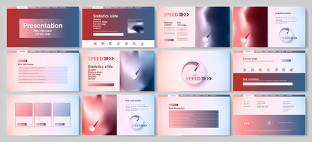 This template is the best as a business presentation, used in marketing and advertising, flyer and banner, the annual report Foto de archivo - 123247281