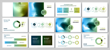 This template is the best as a business presentation, used in marketing and advertising, flyer and banner, the annual report Foto de archivo - 123247282