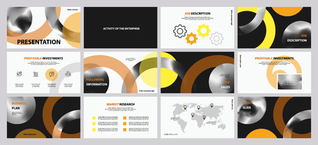 This template is the best as a business presentation, used in marketing and advertising, flyer and banner, the annual report Foto de archivo - 123246936