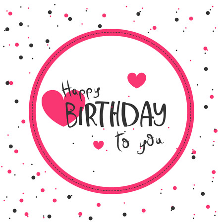 Colorful greeting card. Present Birthday. Congratulations on the holiday. Vector illustration Фото со стока - 122553856