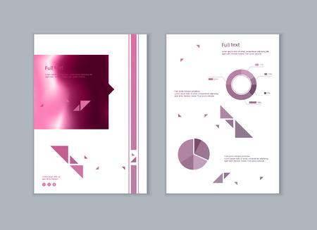 Set of brochures for marketing the promotion goods and services on market. Vector illustration Stock fotó - 123247217