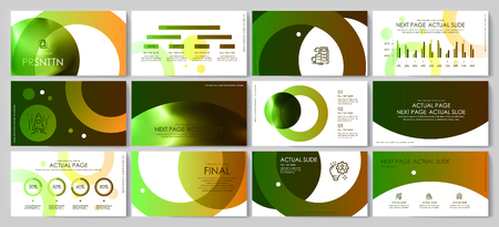 This template is the best as a business presentation, used in marketing and advertising, flyer and banner, the annual report Foto de archivo - 123247223