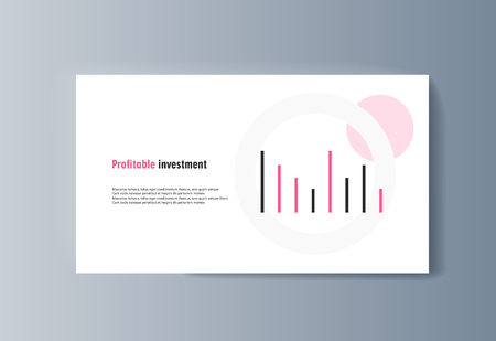 Business presentation brochure advertising goods and services. Vector illustration 向量圖像
