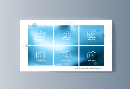 Business presentation brochure advertising goods and services. Vector illustration Foto de archivo - 123247397