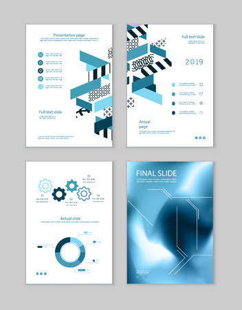 Set of brochures for marketing the promotion goods and services on market. Vector illustration Stock fotó - 123247456