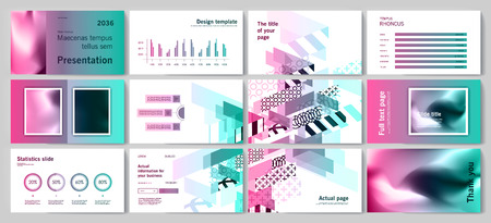 This template is the best as a business presentation, used in marketing and advertising, flyer and banner, the annual report Foto de archivo - 123249061