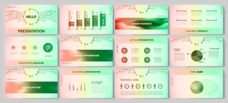 This template is the best as a business presentation, used in marketing and advertising, flyer and banner, the annual report Foto de archivo - 123249069