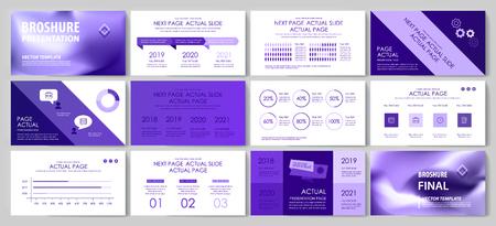 Questo modello è il migliore come presentazione aziendale, utilizzato nel marketing e nella pubblicità, nel volantino e nel banner, nella relazione annuale Vettoriali