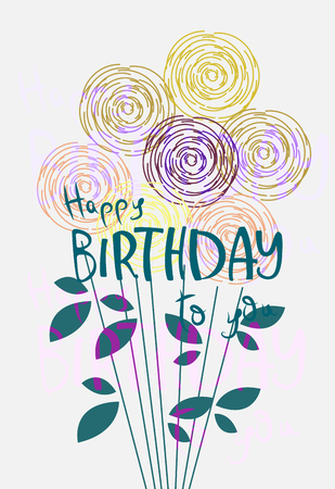 Colorful greeting card. Present Birthday. Congratulations on the holiday. Vector illustration Stock fotó - 128109702