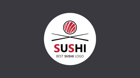 Brochure cover Sushi used in marketing and advertising. Vector illustration