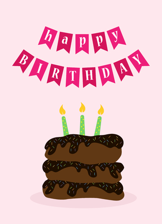 Colorful greeting card. Present Birthday. Congratulations on the holiday. Vector illustration