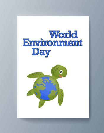 Business presentation brochure advertising the idea environmental protection. Vector illustration Ilustrace