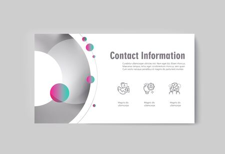 Business presentation brochure infographics advertising goods and services. Vector illustration Ilustração