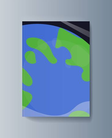 Business presentation brochure space exploration and the trajectory of planets. Vector illustration