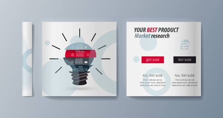 Set of brochures for marketing the promotion goods and services on market. Vector illustration Stock fotó - 128110122