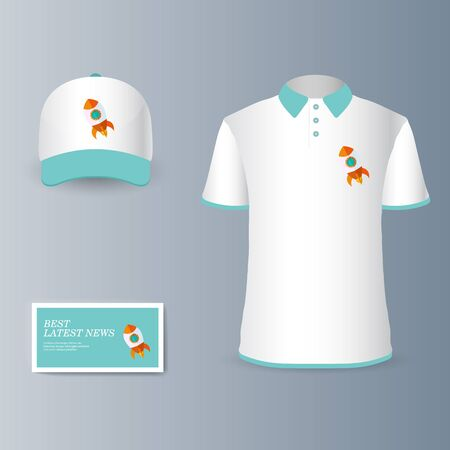 Presentation of a collection fashionable stylish items for marketing promotion goods and services on the market. Vector illustration