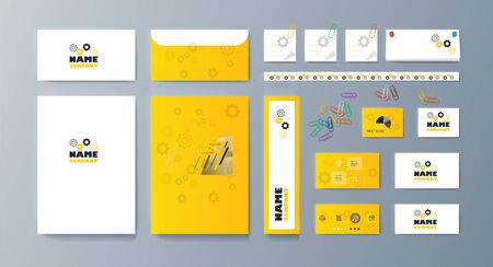 Set of brochures for marketing the promotion goods and services on market. Vector illustration Stock fotó - 128110273