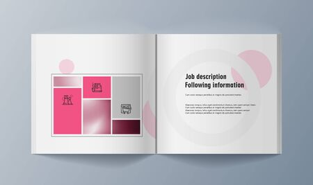 Set of brochures for marketing the promotion goods and services on market. Vector illustration