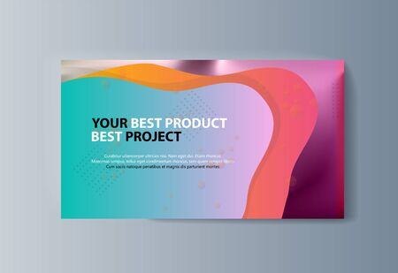 Business presentation brochure advertising goods and services. Vector illustration Ilustração