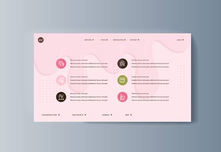 Business presentation brochure advertising ice cream and services delivery. Vector illustration