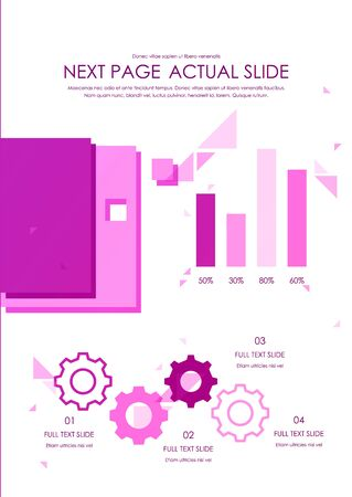 Brochure cover used in marketing and advertising. Vector illustration
