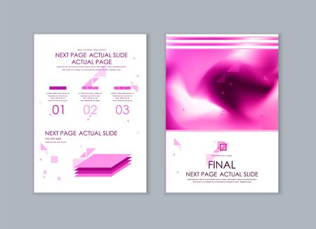 Set of brochures for marketing the promotion goods and services on market. Vector illustration Vetores