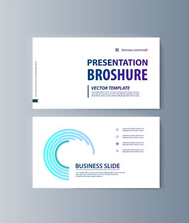 Set of brochures infographics for marketing the promotion goods and services on market. Vector illustration Stock fotó - 128110527