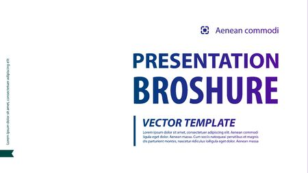 Brochure cover infographics used in marketing and advertising. Vector illustration 일러스트