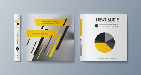 Set of brochures for marketing the promotion goods and services on market Vector Illustration