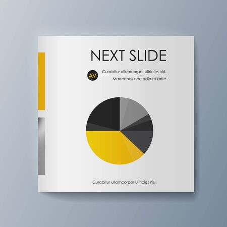 Business presentation brochure advertising goods and services