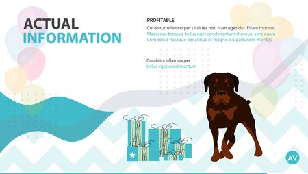Cover pet care instructions brochure Illustration