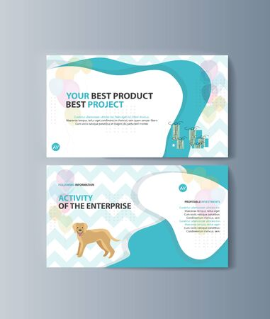 Set of brochures kit for pet purchase advertising Ilustração