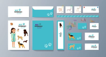 Set of brochures kit for pet purchase advertising Ilustracja