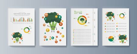 Set of brochures for marketing the promotion goods and services on market Illusztráció