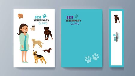 Set of brochures kit for pet purchase advertising Фото со стока - 129713203