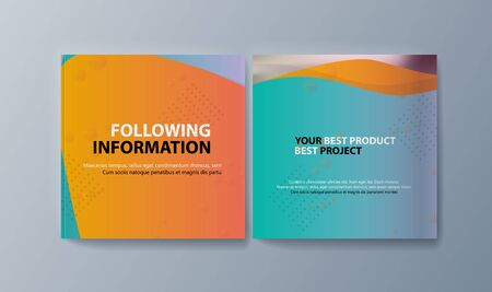 Set of brochures for marketing the promotion goods and services on market Stockfoto - 129713212