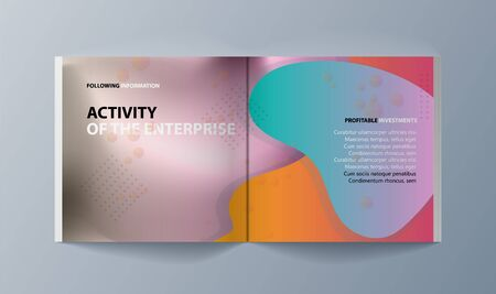 Set of brochures for marketing the promotion goods and services on market 일러스트