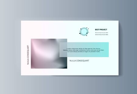 Business presentation brochure infographics advertising goods and services