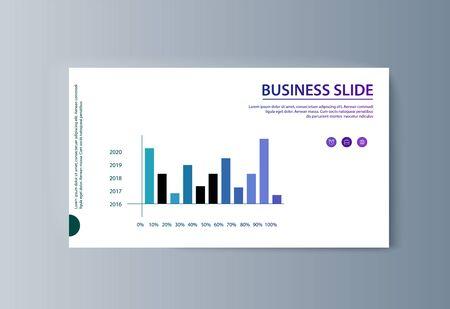 Business presentation brochure infographics advertising goods and services. Vector illustration Illusztráció