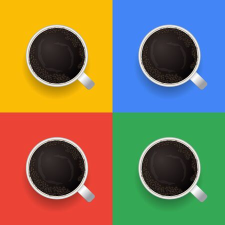 Coffee excellent drink always. Cool design. Colorful picture. Vector illustration Stok Fotoğraf - 130780371