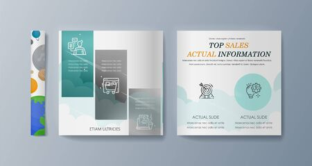 Set of brochures for marketing promotion and the delivery goods. Vector illustration Иллюстрация