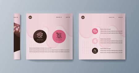 Set of brochures for marketing the promotion ice cream on market
