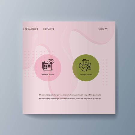 Business presentation brochure advertising ice cream and services delivery