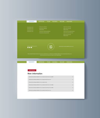 Set of brochures for marketing promoting the idea environmental protection