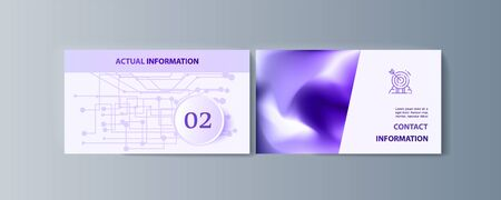 Set of brochures infographics for marketing the promotion goods and services on market Çizim